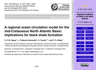 A Regional Ocean Circulation Model for t... by Topper, R. P. M.
