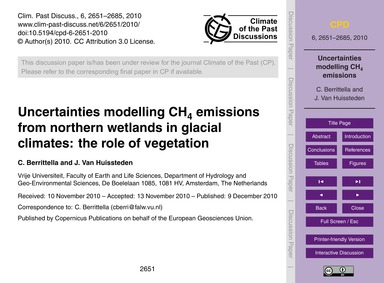 Uncertainties Modelling Ch4 Emissions fr... by Berrittella, C.