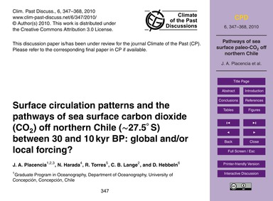 Surface Circulation Patterns and the Pat... by Placencia, J. A.