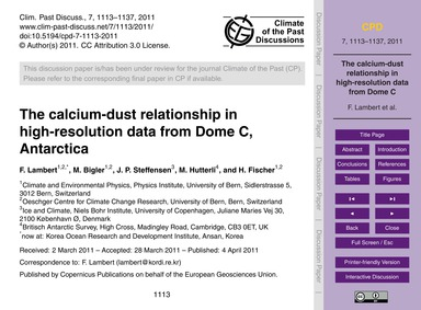 The Calcium-dust Relationship in High-re... by Lambert, F.