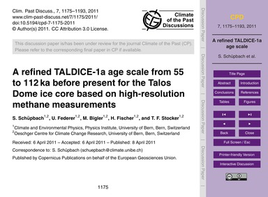 A Refined Taldice-1A Age Scale from 55 t... by Schüpbach, S.