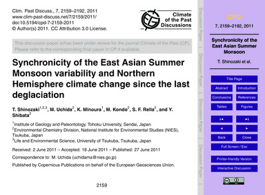 Synchronicity of the East Asian Summer M... by Shinozaki, T.