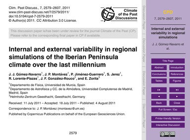Internal and External Variability in Reg... by Gómez-navarro, J. J.