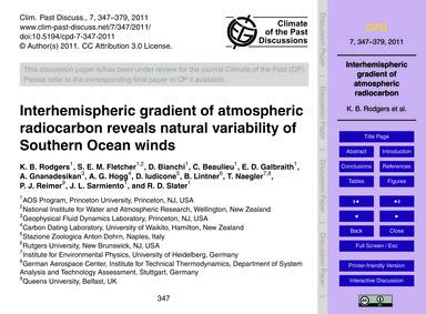 Interhemispheric Gradient of Atmospheric... by Rodgers, K. B.