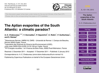 The Aptian Evaporites of the South Atlan... by Chaboureau, A.-c.