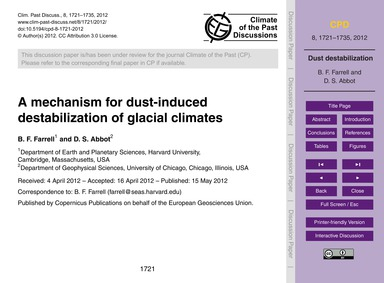 A Mechanism for Dust-induced Destabiliza... by Farrell, B. F.