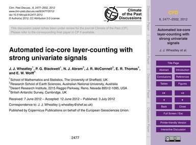 Automated Ice-core Layer-counting with S... by Wheatley, J. J.