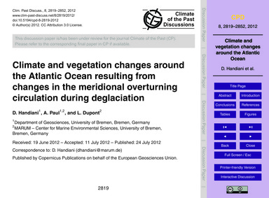 Climate and Vegetation Changes Around th... by Handiani, D.