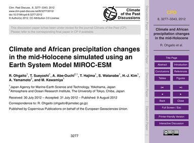 Climate and African Precipitation Change... by Ohgaito, R.
