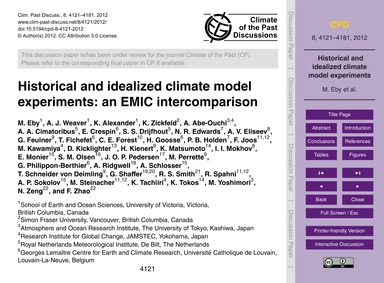 Historical and Idealized Climate Model E... by E, M.