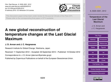 A New Global Reconstruction of Temperatu... by Annan, J. D.