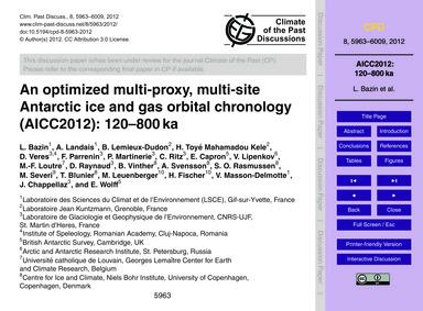 An Optimized Multi-proxy, Multi-site Ant... by Bazin, L.