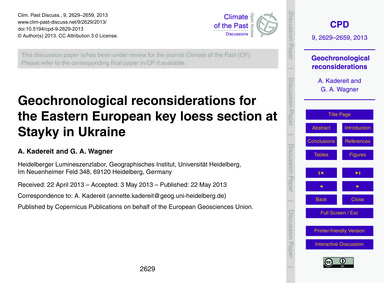 Geochronological Reconsiderations for th... by Kadereit, A.