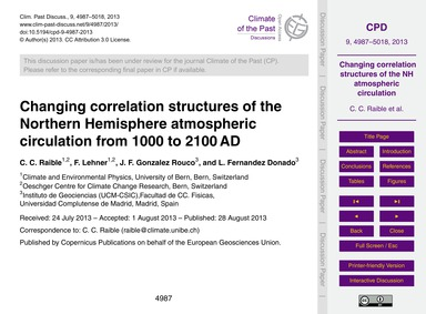 Changing Correlation Structures of the N... by Raible, C. C.
