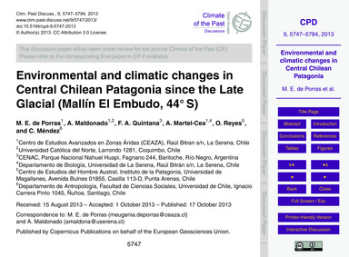 Environmental and Climatic Changes in Ce... by De Porras, M. E.