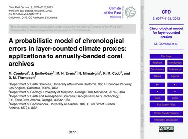 A Probabilistic Model of Chronological E... by Comboul, M.