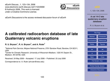 A Calibrated Radiocarbon Database of Lat... by Bryson, R. U.