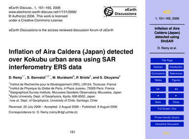 Inflation of Aira Caldera (Japan) Detect... by Remy, D.