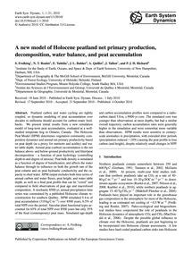 A New Model of Holocene Peatland Net Pri... by Frolking, S.