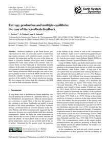 Entropy Production and Multiple Equilibr... by Herbert, C.