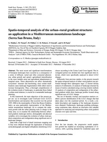 Spatio-temporal Analysis of the Urban–ru... by Modica, G.