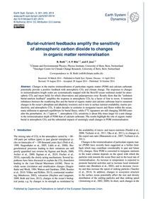 Burial-nutrient Feedbacks Amplify the Se... by Roth, R.