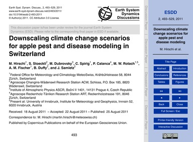 Downscaling Climate Change Scenarios for... by Hirschi, M.