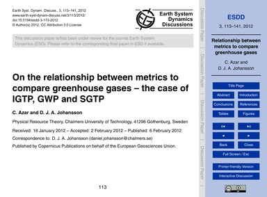 On the Relationship Between Metrics to C... by Azar, C.