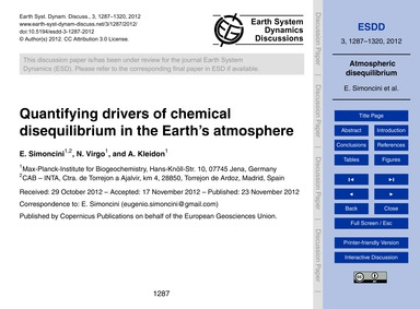 Quantifying Drivers of Chemical Disequil... by Simoncini, E.