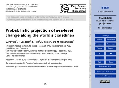 Probabilistic Projection of Sea-level Ch... by Perrette, M.