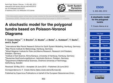 A Stochastic Model for the Polygonal Tun... by Cresto Aleina, F.