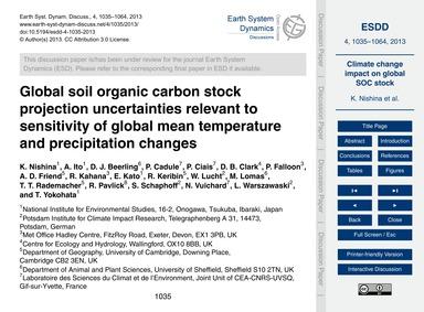 Global Soil Organic Carbon Stock Project... by Nishina, K.