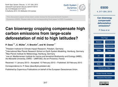Can Bioenergy Cropping Compensate High C... by Dass, P.