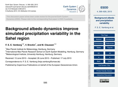 Background Albedo Dynamics Improve Simul... by Vamborg, F. S. E.
