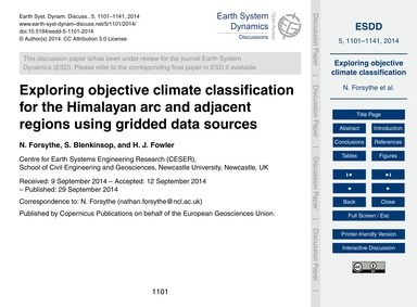 Exploring Objective Climate Classificati... by Forsythe, N.