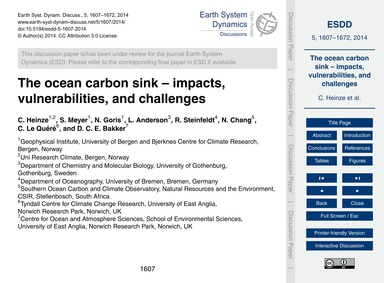 The Ocean Carbon Sink – Impacts, Vulnera... by Heinze, C.