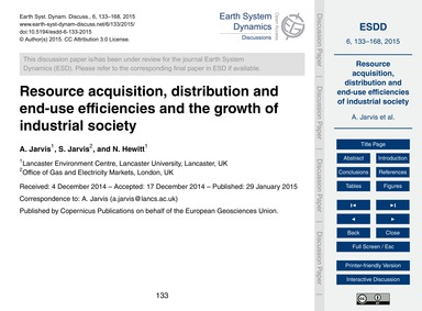 Resource Acquisition, Distribution and E... by Jarvis, A.