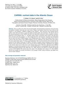 Carina: Nutrient Data in the Atlantic Oc... by Tanhua, T.