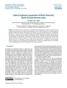 Data of Hydraulic Properties of North Ea... by Schindler, U.
