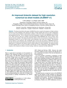 An Improved Antarctic Dataset for High R... by Le Brocq, A. M.