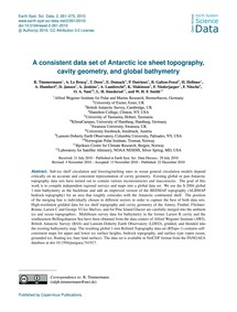 A Consistent Data Set of Antarctic Ice S... by Timmermann, R.