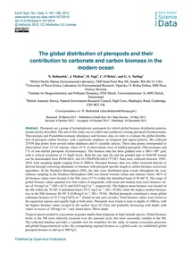 The Global Distribution of Pteropods and... by Bednaršek, N.