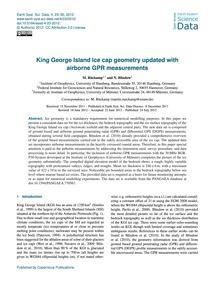 King George Island Ice Cap Geometry Upda... by Rückamp, M.