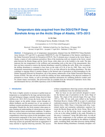 Temperature Data Acquired from the Doi/G... by Clow, G. D.