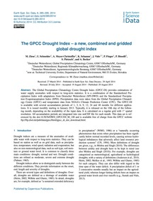 The Gpcc Drought Index – a New, Combined... by Ziese, M.