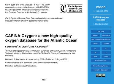Carina-oxygen: a New High-quality Oxygen... by Stendardo, I.