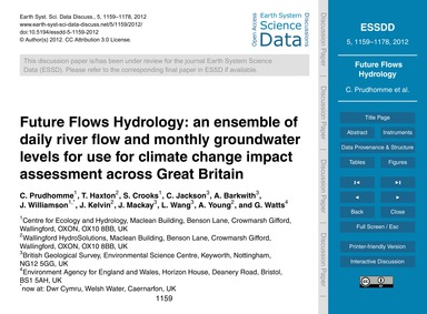 Future Flows Hydrology: an Ensemble of D... by Prudhomme, C.