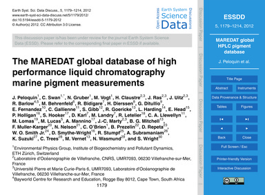 The Maredat Global Database of High Perf... by Peloquin, J.