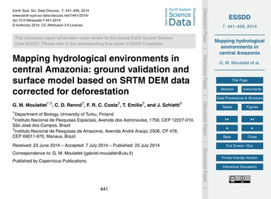 Mapping Hydrological Environments in Cen... by Moulatlet, G. M.