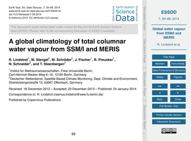 A Global Climatology of Total Columnar W... by Lindstrot, R.
